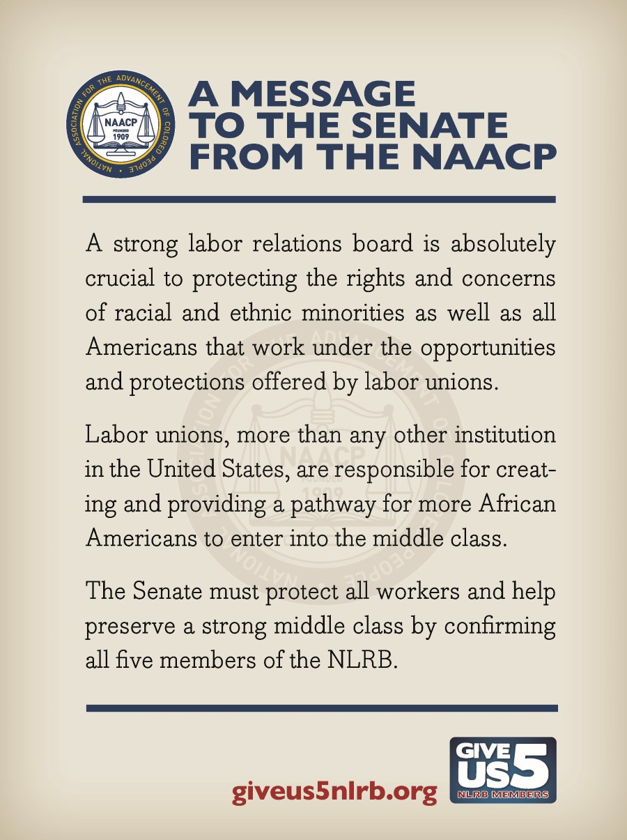 Give Us 5 NLRB - NAACP Ad